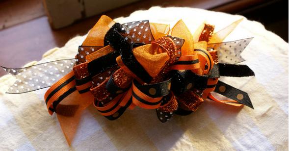 Handmade Halloween Hair Barette