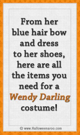 Everything you need for a Wendy Darling costume