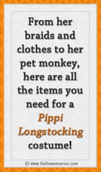 Everything you need for a Pippi Longstocking costume