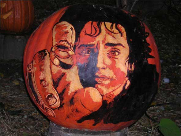Frodo and the One Ring Pumpkin