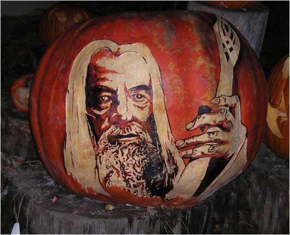 Gandalf the White Wizard Pumpkin