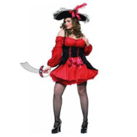 Women's Plus Size Pirate Costume