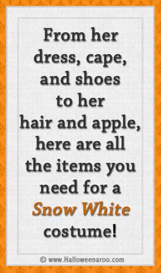 Everything you need for a Snow White costume