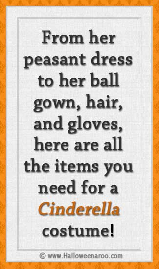 Everything you need for a Cinderella costume