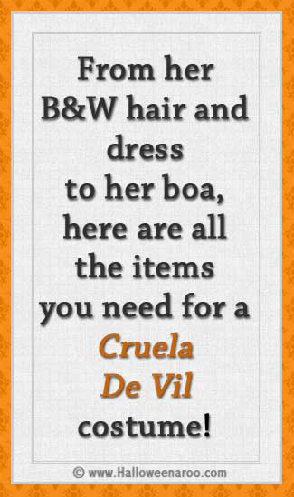 Everything you need for a Cruella De Vil costume