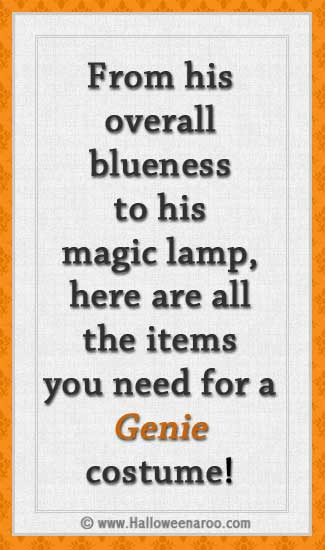 Everything you need for a Genie costume