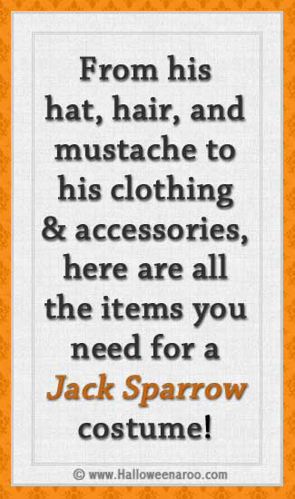 Everything you need for a Jack Sparrow costume