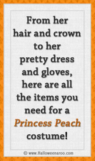 Everything you need for a Princess Peach costume