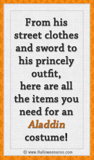 Everything you need for an Aladdin costume