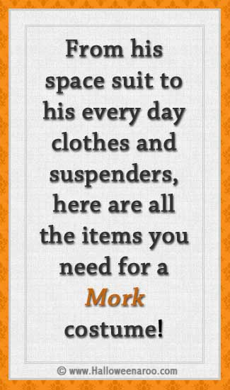 Everything you need for a Mork costume