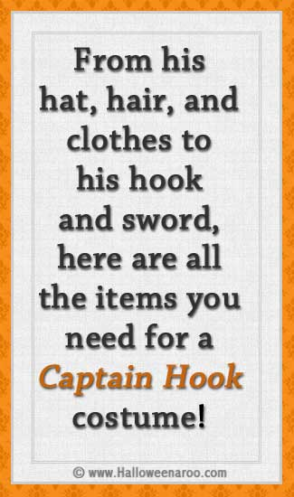 Everything you need for a Captain Hook costume