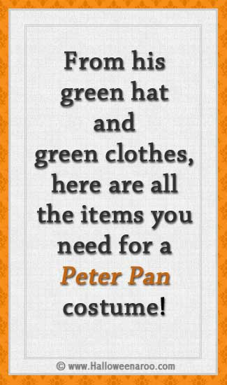 Everything you need for a Peter Pan costume