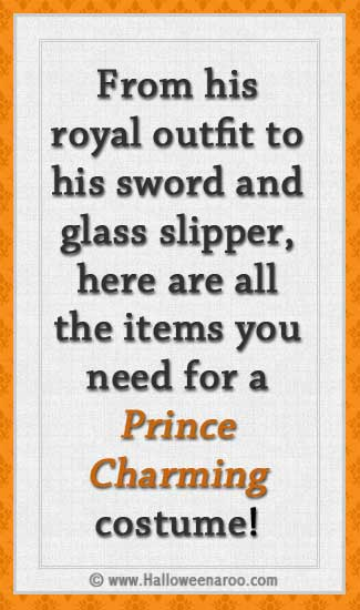 Everything you need for a Prince Charming costume