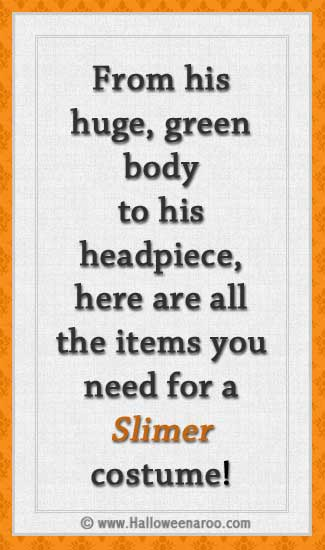 Everything you need for a Slimer costume