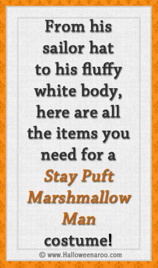 Everything you need for a Stay Puft Marshmallow Man costume