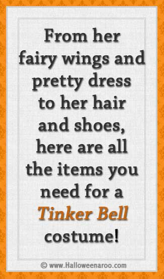 Everything you need for a Tinker Bell costume