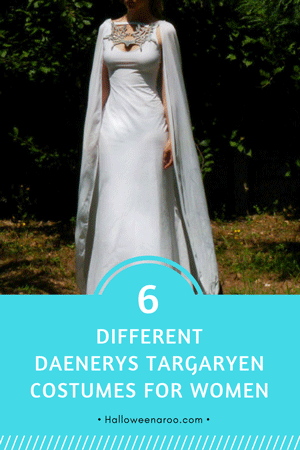 These six different dresses will give you plenty of choices if you want to dress up in a Daenerys Targaryen costume for Halloween or a costume party.