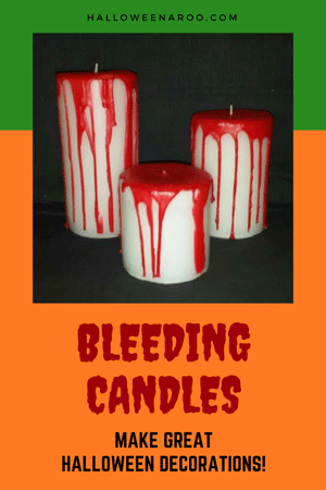 Bleeding candles make great Halloween decorations and come in a variety of looks!