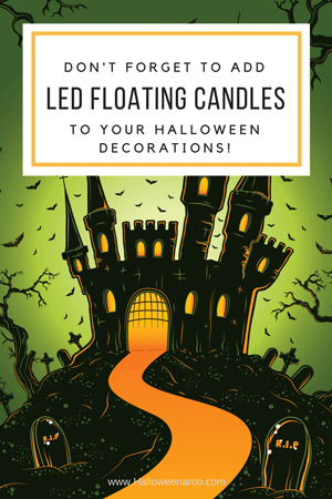 Add floating LED candles to your Halloween decorations!