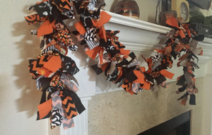 Black, Orange, And White Halloween Fireplace Garland