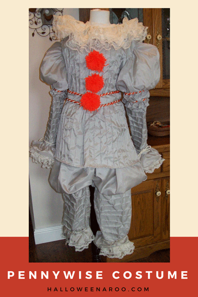 Dress up in a Pennywise costume, Stephen King's killer clown from It.