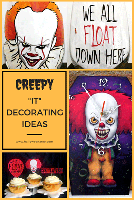 "Decorate your home, for a party or just because, with Pennywise items based on Stephen King's ""It"" story!"
