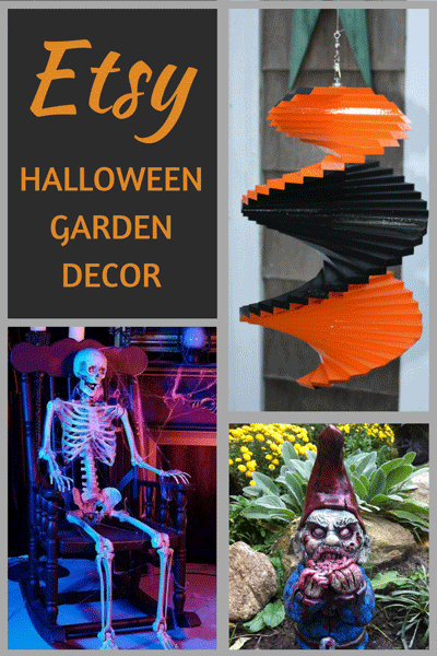 Spooky and fun garden decorations that are perfect for Halloween!