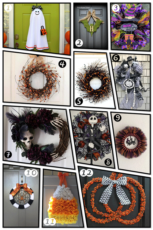 These are 12 spooktacular handmade wreaths that you can buy on Etsy.