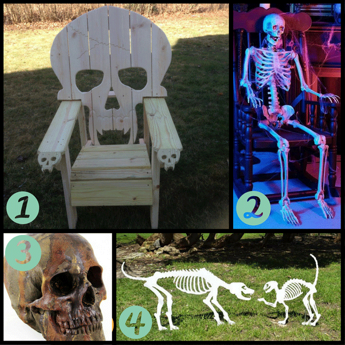 These are just some of the skeletons you can add to your garden for Halloween!