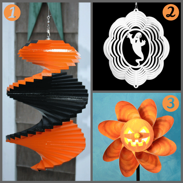 Spinners that you can decorate your garden with at Halloween!